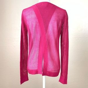 NEW Neiman Marcus Open Back Magenta Sweater Small
